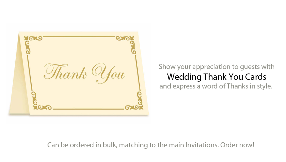 Thank you Cards – Order Wedding Thank You Cards